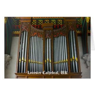 Leicester Cathedral organ Card