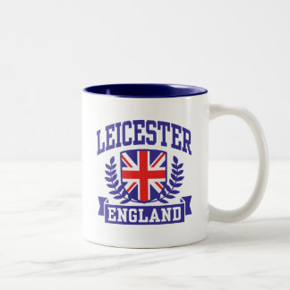 Leicester England Two-Tone Coffee Mug