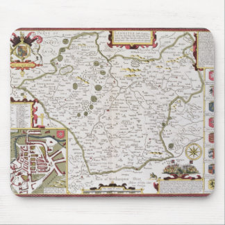 Leicester, engraved by Jodocus Hondius Mouse Pad