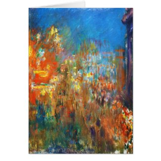 Leicester Square at Night Claude Monet fine art Card
