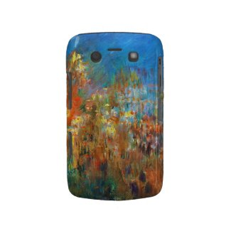 Leicester Square at Night Claude Monet fine art Blackberry Case