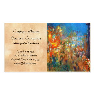 Leicester Square at Night Claude Monet fine art Double-Sided Standard Business Cards (Pack Of 100)
