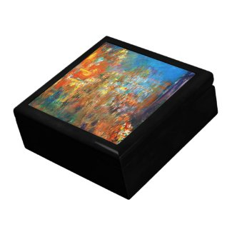 Leicester Square at Night Claude Monet fine art Jewelry Box