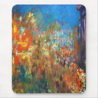 Leicester Square at Night Claude Monet fine art Mouse Pad