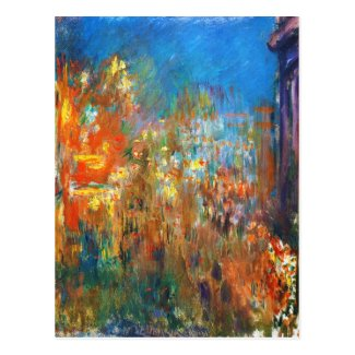 Leicester Square at Night Claude Monet fine art Post Cards
