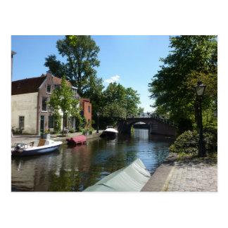 Leiden Canal Postcard