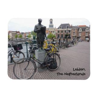 Leiden (estatua y bicis) iman rectangular