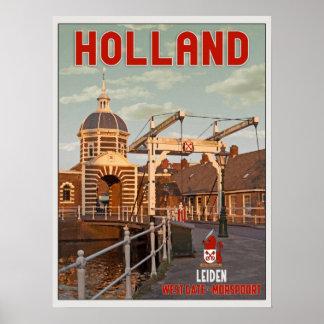 Leiden - Morspoortbrug Poster