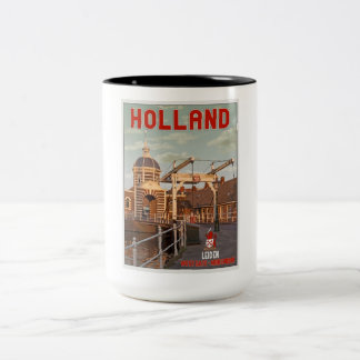 Leiden - Morspoortbrug Two-Tone Coffee Mug