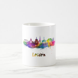 Leiden skyline in watercolor coffee mug