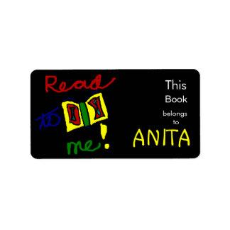 Leído a mí - Bookplate rectangular personalizado Etiqueta De Dirección