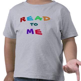 leído a mí el mensaje camiseta