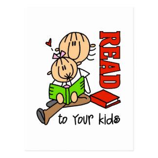 Leído a sus niños tarjetas postales