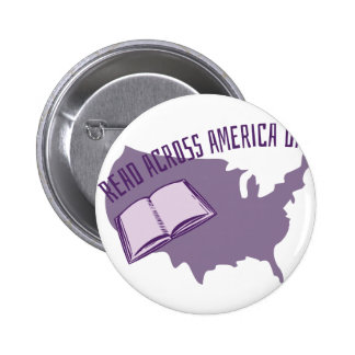 Leído a través de América Pin Redondo De 2 Pulgadas