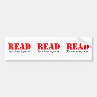 Leído Etiqueta De Parachoque