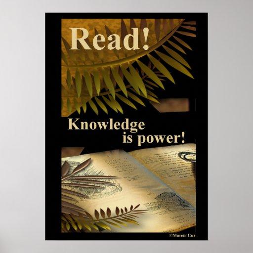 ¡Leído! ¡El conocimiento es poder! Poster