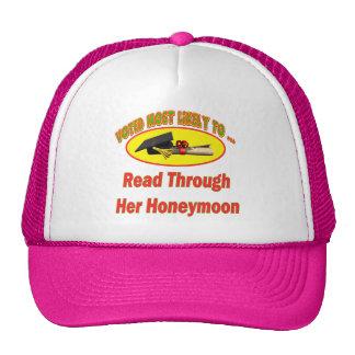 Leído en su luna de miel gorro de camionero