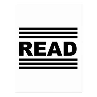 Leído entre las líneas tarjeta postal