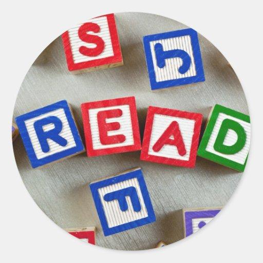 Leído Etiquetas Redondas
