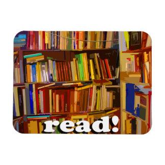 ¡Leído! Foto Imanes De Vinilo