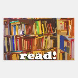 ¡Leído! Foto Rectangular Pegatinas