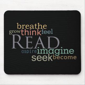 Leído, la búsqueda, se imagina Mousepad (oscuro)
