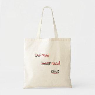 Leído leído leído bolsa tela barata