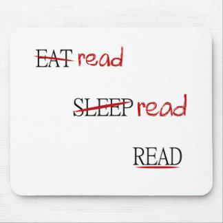 Leído leído leído tapete de ratón
