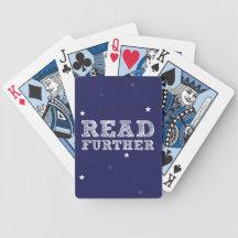 Leído más lejos cartas de juego