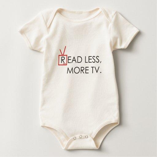 Leído menos, más TV Mamelucos De Bebé