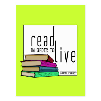 Leído para vivir para los aficionados a los libros tarjetas postales
