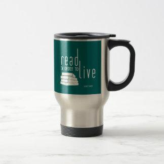 Leído para vivir taza de café