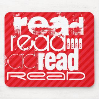 Leído; Rayas del rojo del escarlata Alfombrilla De Ratón