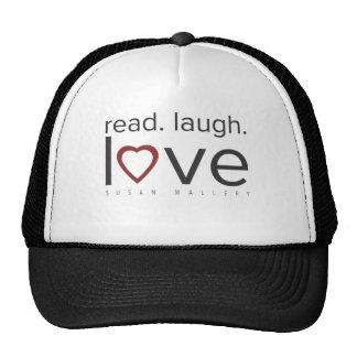 leído. risa. amor gorras