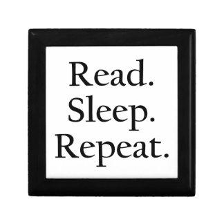 Leído. Sueño. Repetición Cajas De Recuerdo