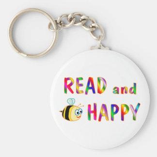 Leído y sea feliz llavero