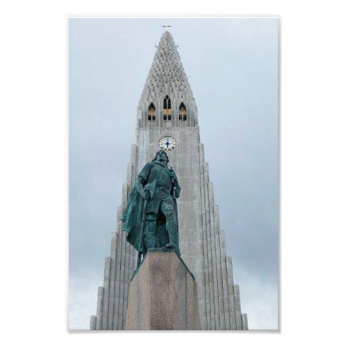 Leif Erikson Statue, Iceland, 8x12 Photo Print