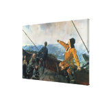 Leif Eriksson  sights land in America, 1893 Stretched Canvas Prints