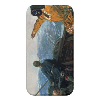 Leif Eriksson  sights land in America, 1893 iPhone 4 Cases