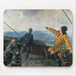 Leif Eriksson  sights land in America, 1893 Mouse Pad