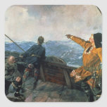 Leif Eriksson  sights land in America, 1893 Stickers