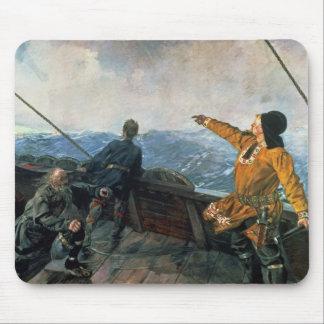Leif Eriksson ve la tierra en América, 1893 Mousepad