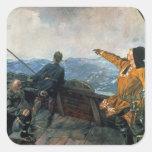Leif Eriksson ve la tierra en América, 1893 Pegatinas