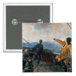 Leif Eriksson ve la tierra en América, 1893 Pin Cuadrado