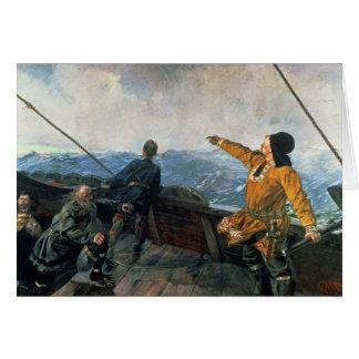 Leif Eriksson ve la tierra en América, 1893 Tarjeta De Felicitación