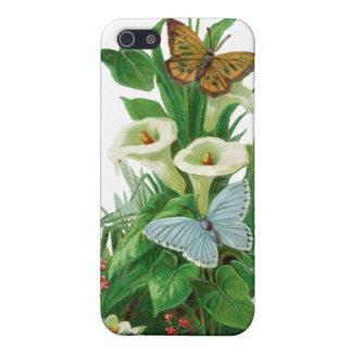 Leif/mariposas/caja de la flor iPhone 5 fundas