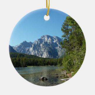 Leigh Lake at Grand Teton National Park Ceramic Ornament