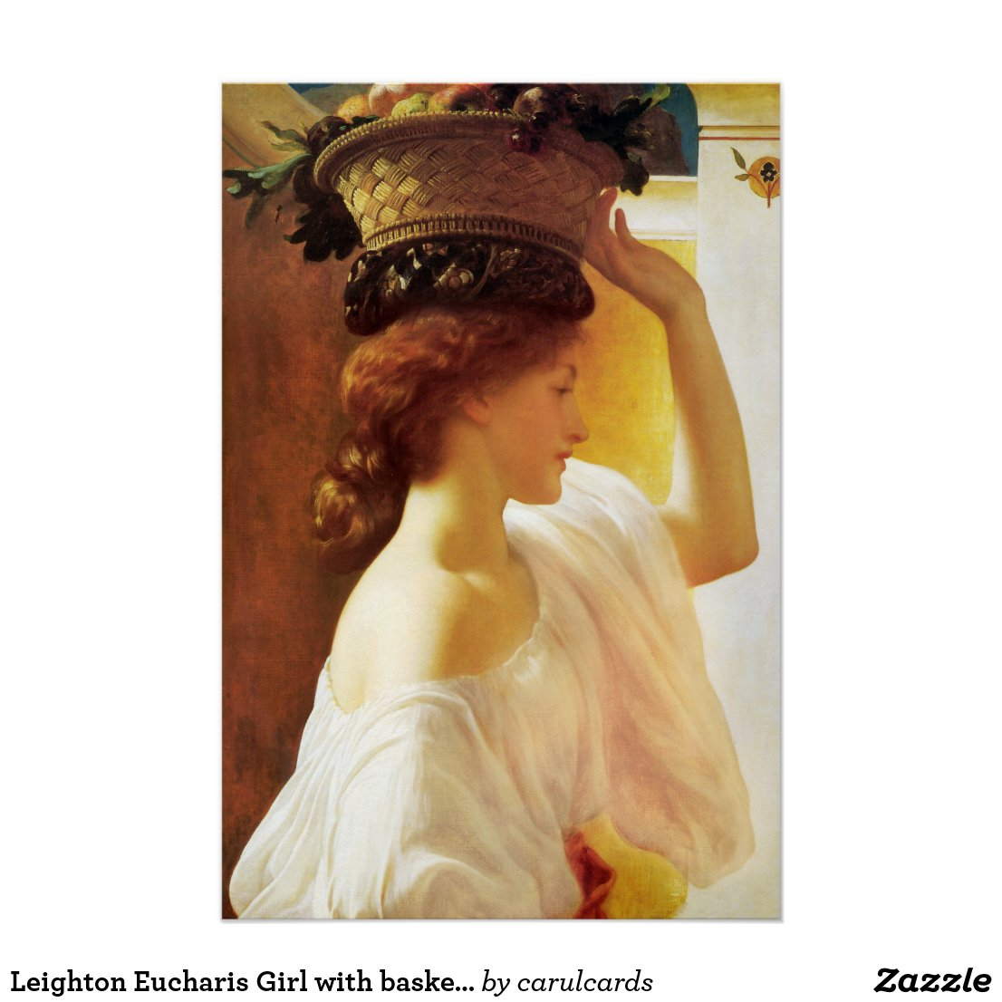 Leighton Eucharis Girl with basket of fruit CC0672 Poster