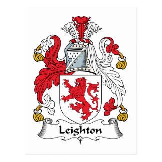 Leighton Family Crest Postcard
