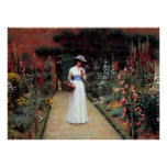 Leighton Lady in a Garden Posters